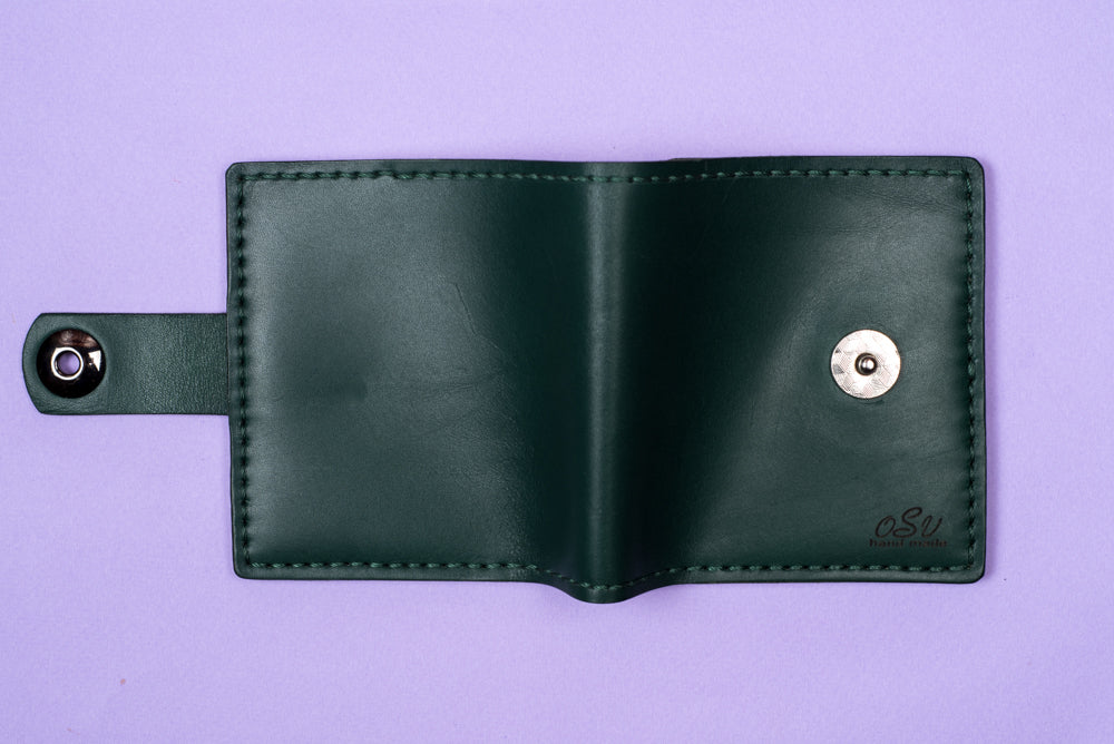 Green leather wallet - 3
