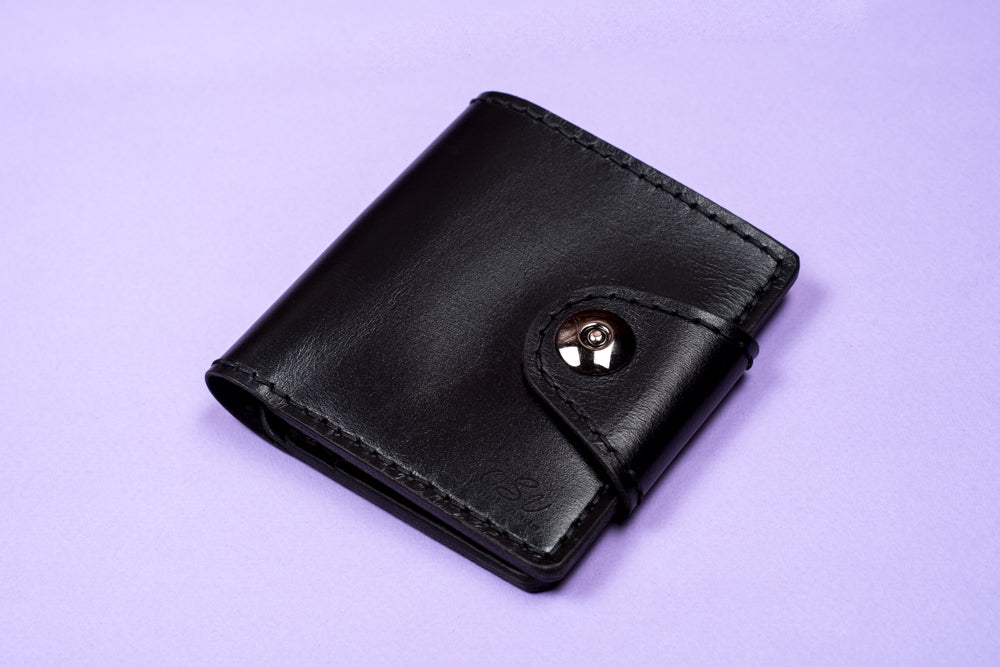 Hand stitched leather wallet - 4