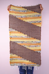 Brown cotton rag rug - 1