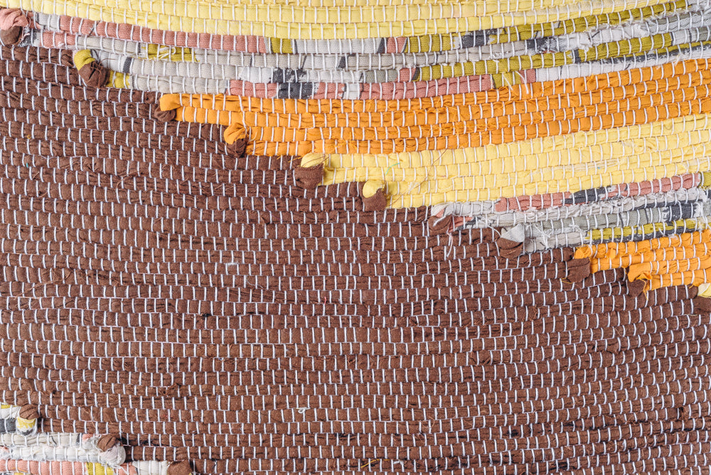 Brown cotton rag rug - 2