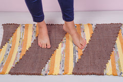 Brown cotton rag rug - 3