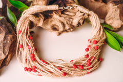 "Organic Handmade Necklace ""Cranberry"" - 1"