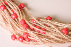 "Organic Handmade Necklace ""Cranberry"" - 5"