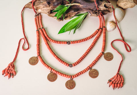 "Necklace for women ""Coin avangard"""