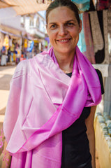 Bright pink indian scarf - 2