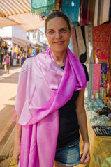 Bright pink indian scarf - 1
