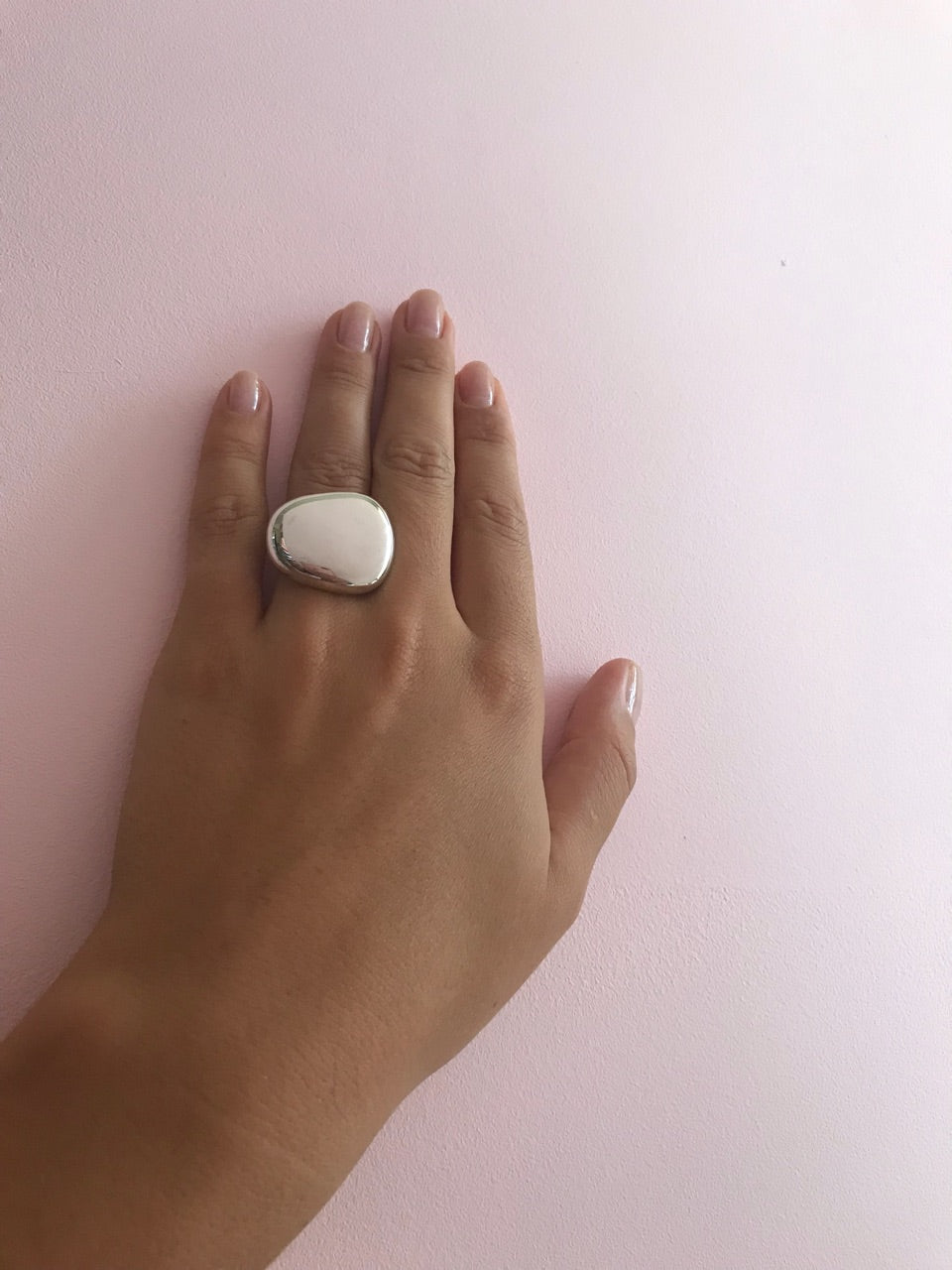 Chunky silver ring for women - 2
