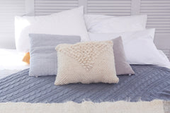 White decorative pillow ''Soft triangle'' - 2