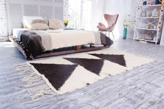 White black floor rug for kitchen - 2