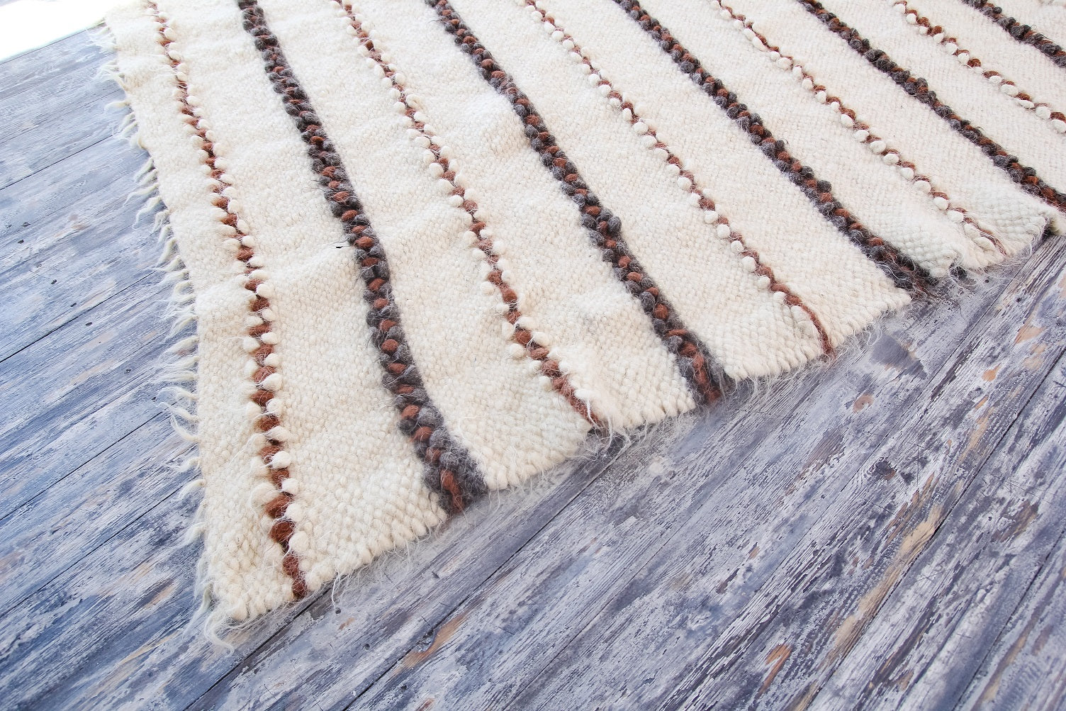 White living room area rug - 3