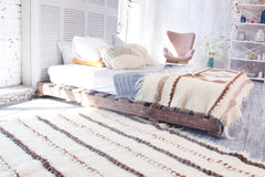 White living room area rug - 2