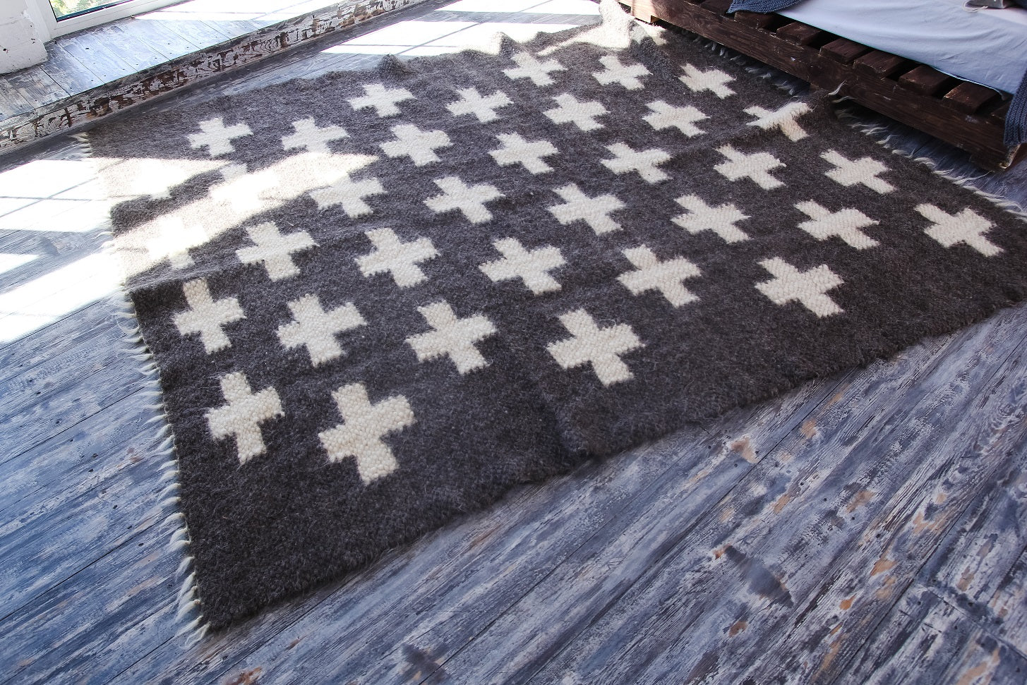 Swiss cross area rug - 1