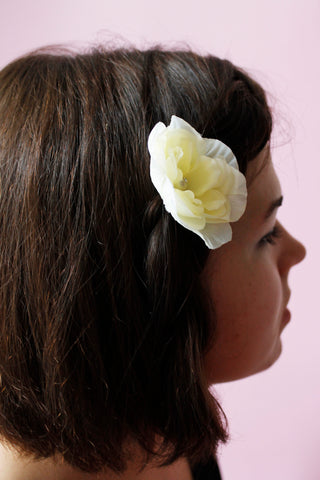 "Wedding hair accessories ""White flower"""