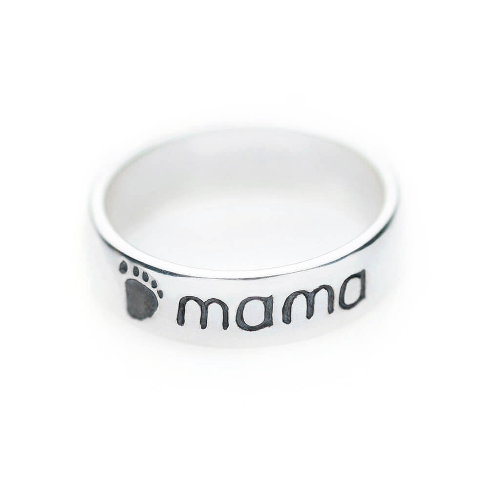 Sterling silver mama ring - 2