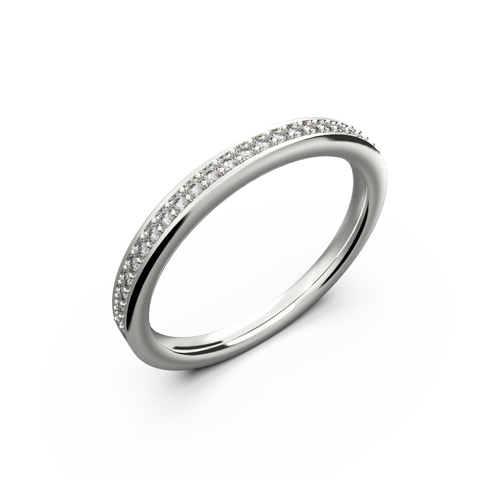 Womans diamond wedding band