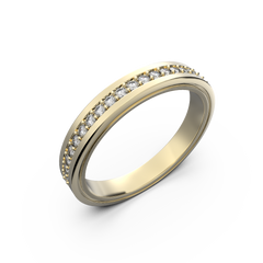 Womens diamond wedding band in white gold 0,164 carat - 4
