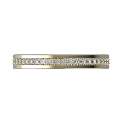 Womens diamond wedding band in yellow gold 0,164 carat - 3
