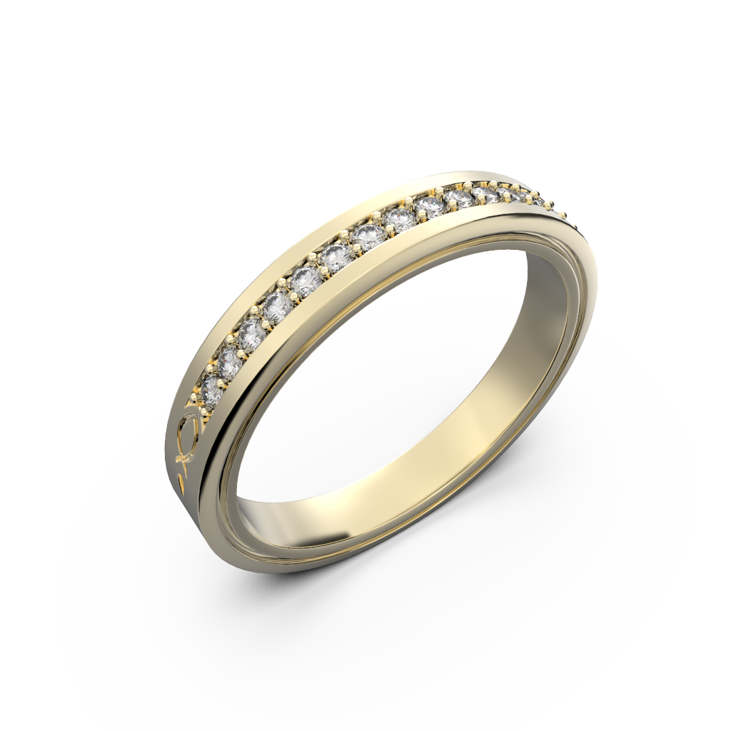 Gold and diamond wedding ring for her - 4