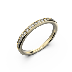 Women's rose gold band wedding ring - 1