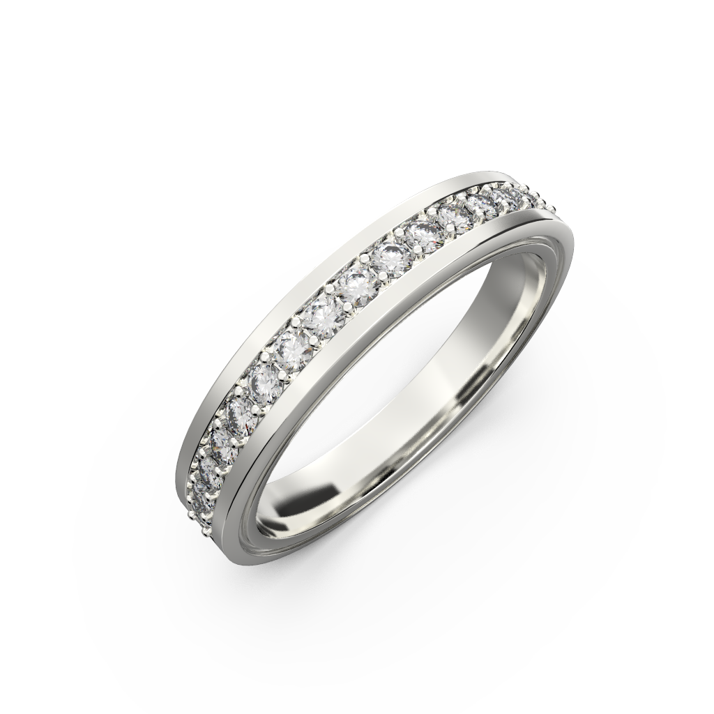 Diamond wedding band for women in yellow gold 0,235 carat - 7