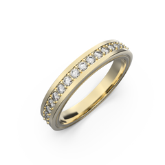 Diamond wedding band for women in yellow gold 0,235 carat - 8