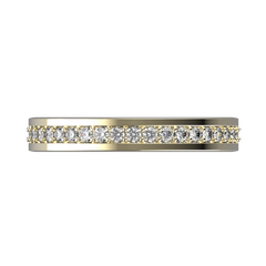 Diamond wedding band for women in yellow gold 0,235 carat - 5
