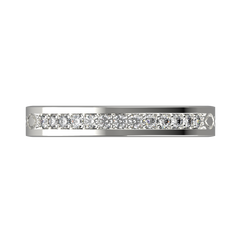 Wide diamond wedding band 0,161 carat - 3