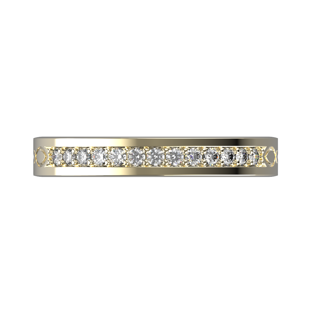 Wide diamond wedding band 0,161 carat - 6