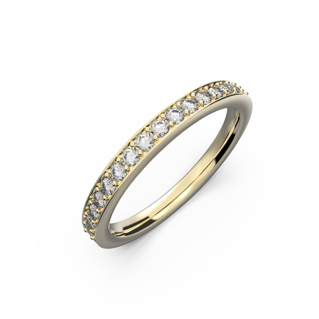 Yellow gold wedding diamond ring 0,235 carat - 8