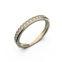 Yellow gold wedding diamond ring 0,235 carat - 1