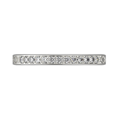White gold diamond wedding band for her 0,161 carat - 4