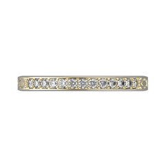 White gold diamond wedding band for her 0,161 carat - 7