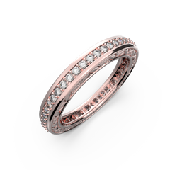 Rose gold and diamond wedding band for women - 10