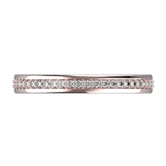 Rose gold and diamond wedding band for women - 8