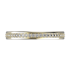 Yellow gold and diamonds wedding band for women - 9