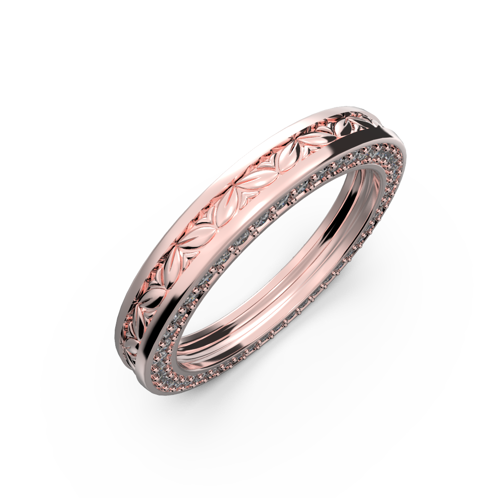Wide wedding band unisex