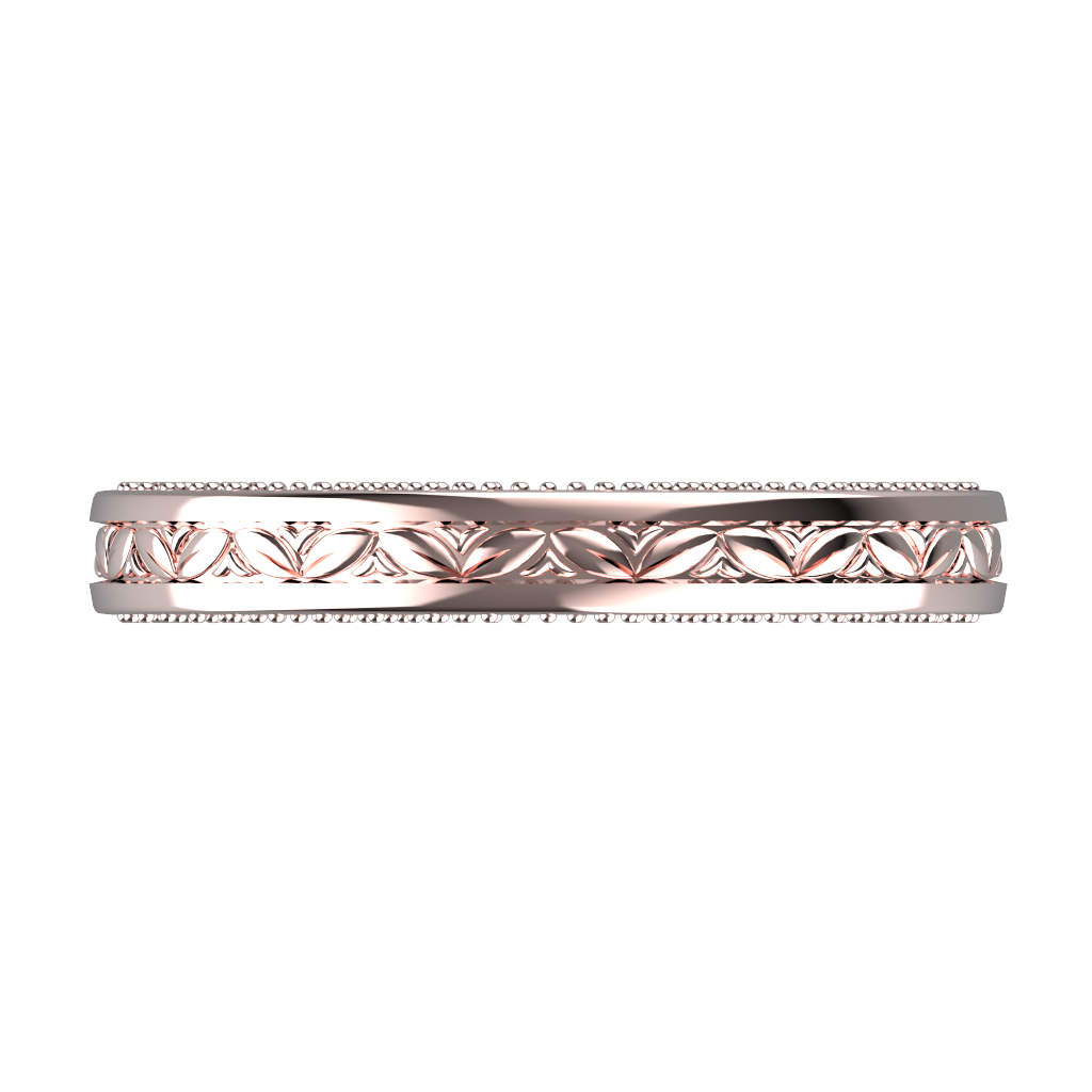 White gold wide wedding band for him and her - 5