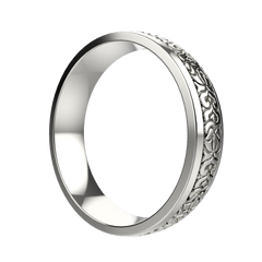 Men's gold carved ring - 2