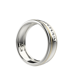 Gold engraved ring band set - 3