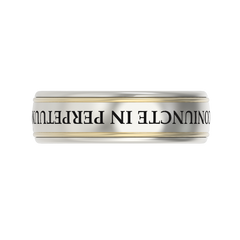 Men's gold engraved ring - 2