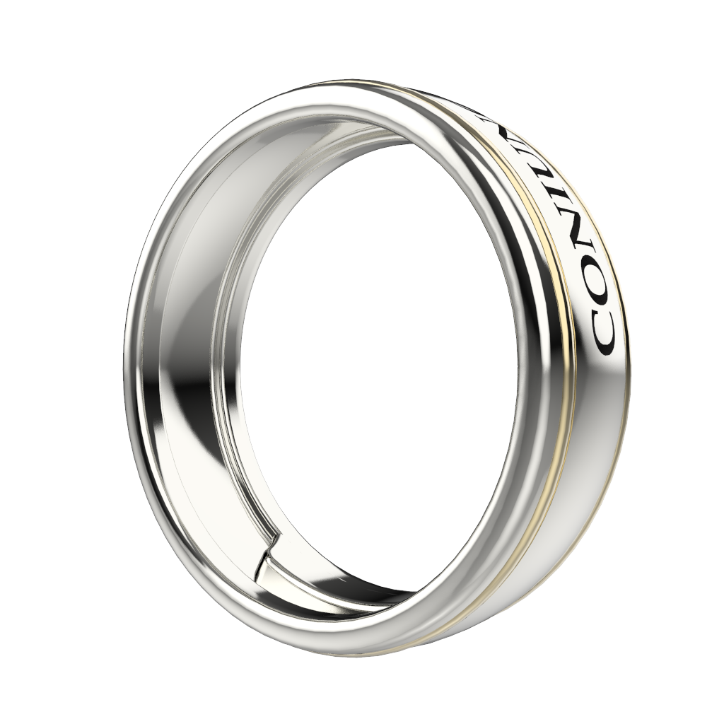 Men's gold engraved ring - 3