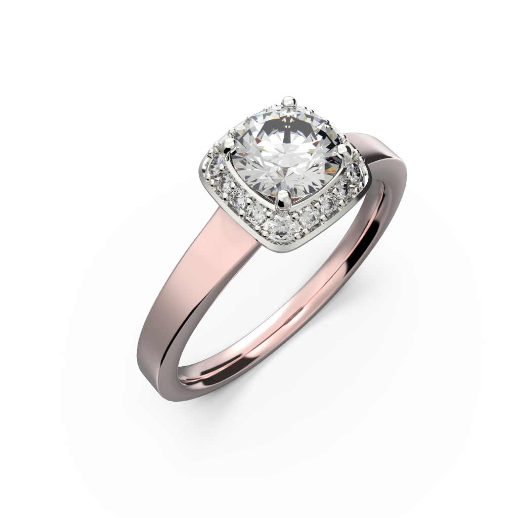 pink Gold diamond ring