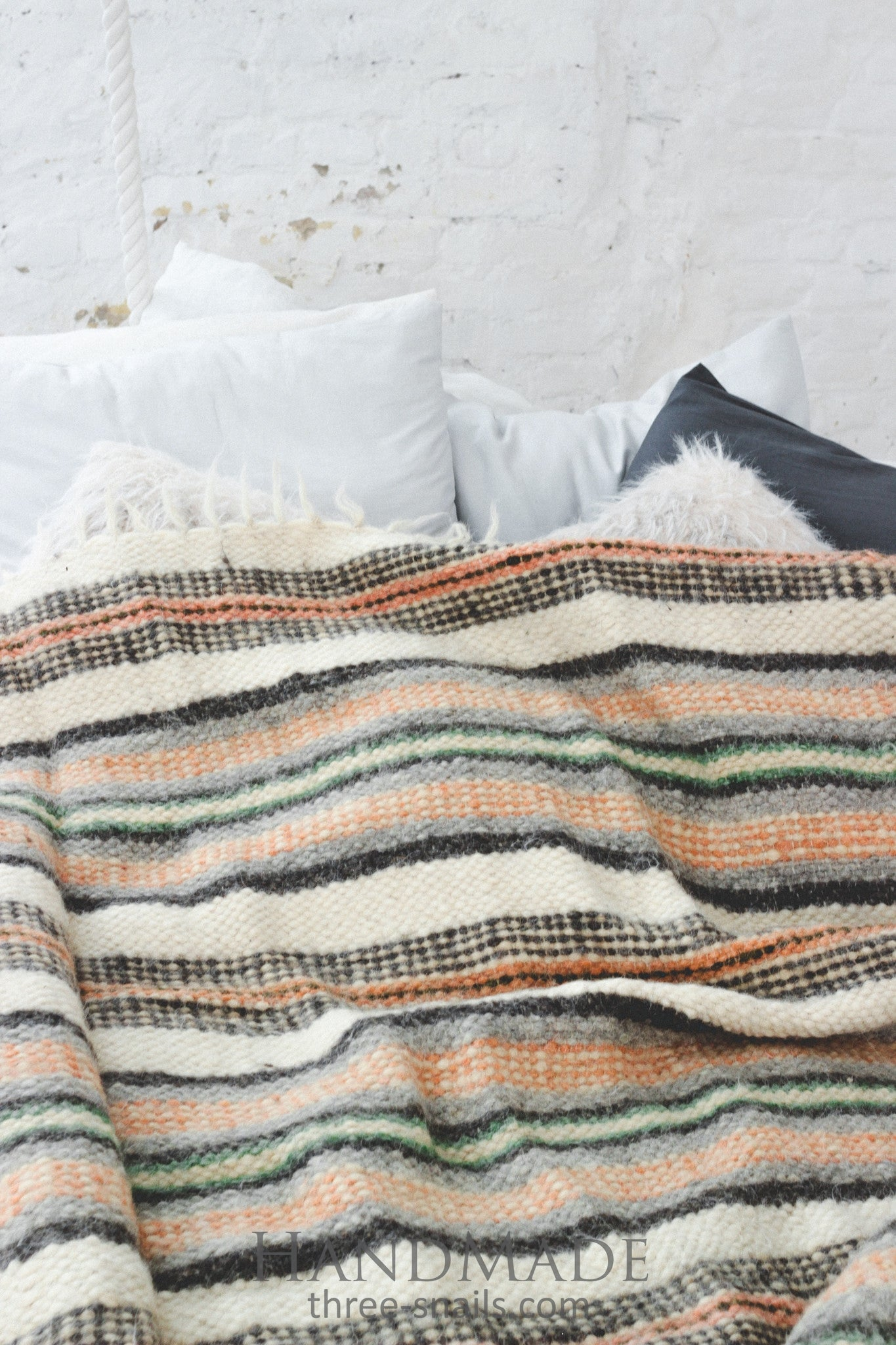 "Woolen blanket ""Ornament stripes"""