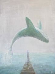 Animal Painting On Canvas Whale - Vasylchenko1