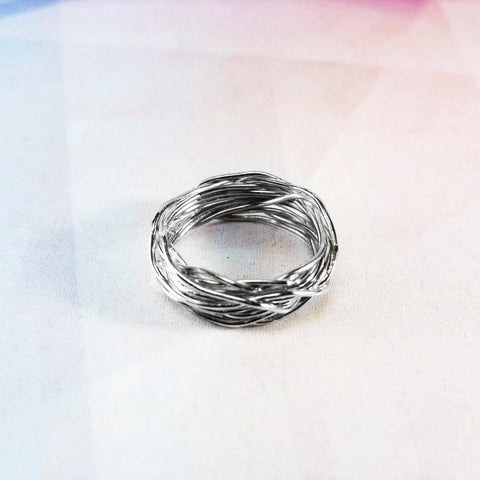 Artisan Crafted Rings. Silver Ring Plexus - Melnichenko1