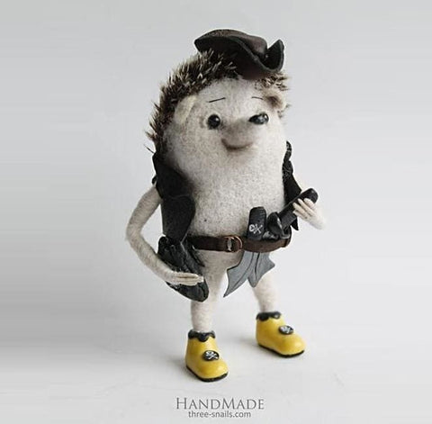 Authors Toy Hedgehog Pirate - Doll