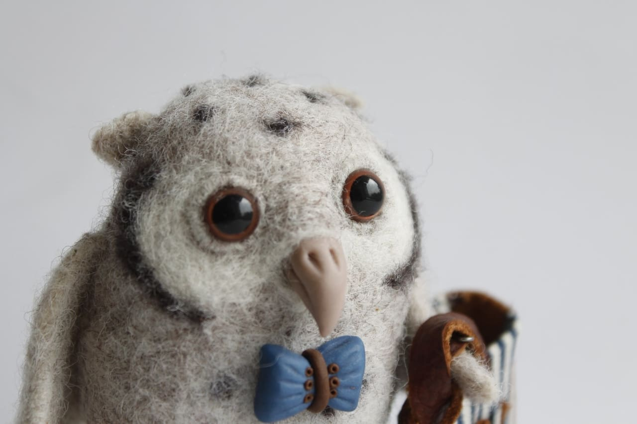 Authors Toys For Children Owl With Bag - Doll