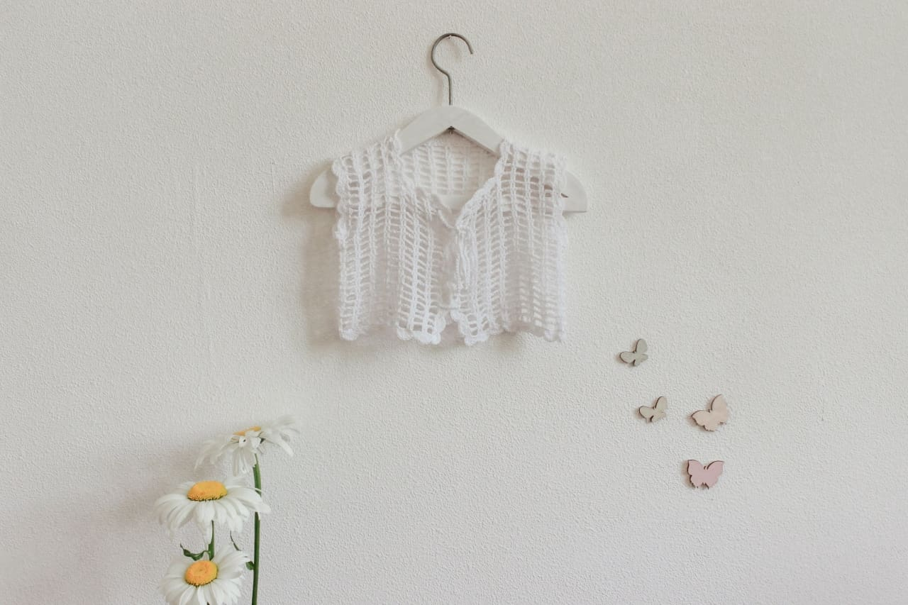 Baby Bolero White Lace - Baby Clothes