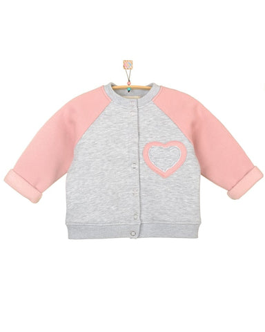 Baby Bomber Jacket Heart - Baby Clothes
