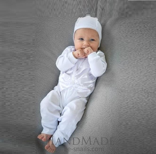 Baby boy baptism outfit \
